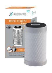 """Refil Carvão Ativado Hidro Filter para Filtros de Água 5"""""""