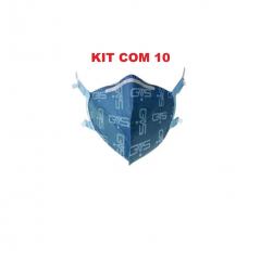Kit 10 Máscara Respirador Descartável Aero Pff2 N95 Inmetro